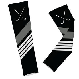 Golf Clubs with Stripes Arm Sleeves