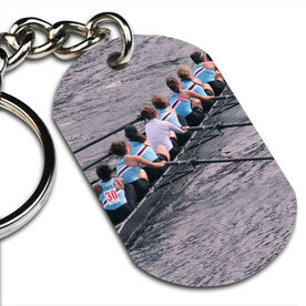 Custom Crew Photo Printed Dog Tag Keychains