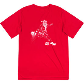 Soccer Short Sleeve Performance Tee - Santa Player