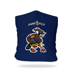 Seams Wild Football Multifunctional Headwear - Woodwind   RokBAND