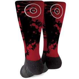 Wrestling Printed Mid-Calf Socks - Splatter