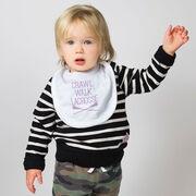 Girls Lacrosse Baby Bib - Crawl Walk Lacrosse