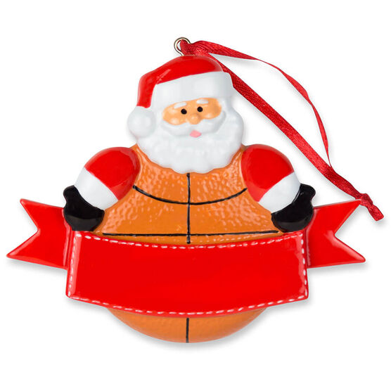 Basketball Ornament - Basketball Santa