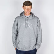 Skiing Hooded Sweatshirt - Skier Sketch