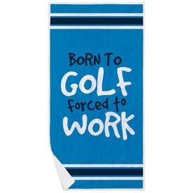 Golf Premium Beach Towel - Born To Golf
