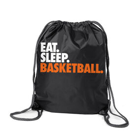 Basketball Sport Pack Cinch Sack Eat. Sleep. Basketball.