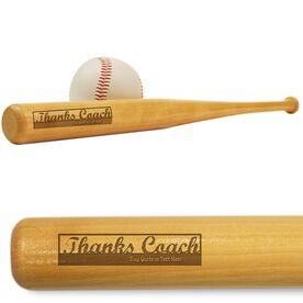Baseball Mini Engraved Bat Thanks Coach (SIGN ME)