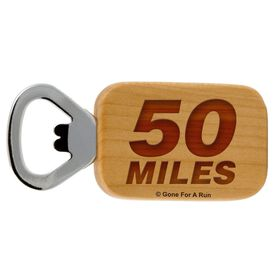 50 Miles Maple Bottle Opener