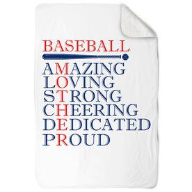 Baseball Sherpa Fleece Blanket - Mother Words