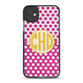 Personalized iPhone® Case - Circle Monogram with Dots