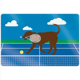 "Tennis 18"" X 12"" Aluminum Room Sign - Dennis The Tennis Dog"