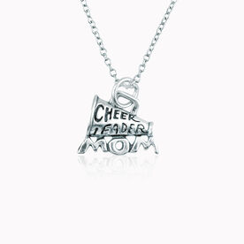 Sterling Silver Cheerleader Mom Megaphone Necklace