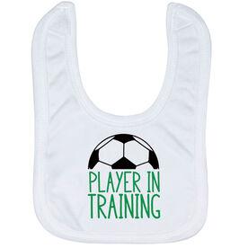 Soccer Baby Bib - Player In Training