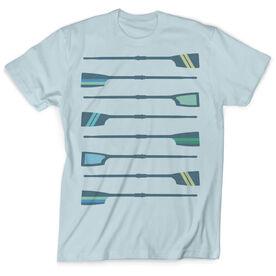 Vintage Crew T-Shirt - Oar Pattern