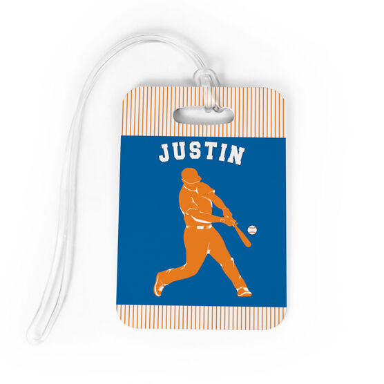 Baseball Bag/Luggage Tag - Personalized Baseball Player Guy
