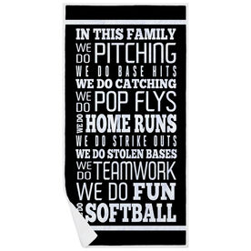 Softball Premium Beach Towel - We Do Softball