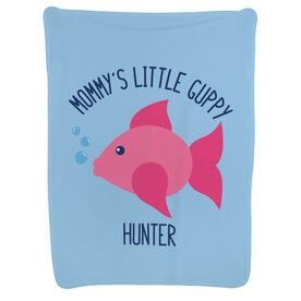 Swimming Baby Blanket - Mommy's Little Guppy