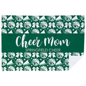 Cheerleading Premium Blanket - Mom Stripe Team Name