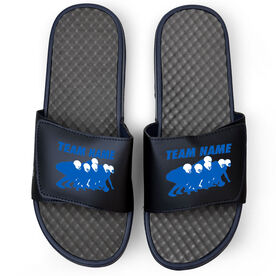 Football Navy Slide Sandals - Band of Brothers