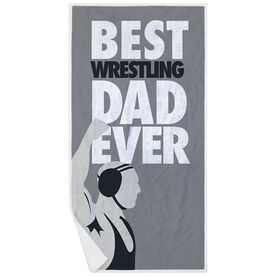 Wrestling Premium Beach Towel - Best Dad Ever
