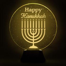 Acrylic LED Lamp - Happy Hanukkah Menorah
