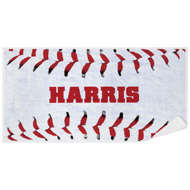 Baseball Premium Beach Towel - Personalized Stitches