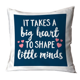 Teacher Throw Pillow - Big Heart Little Minds