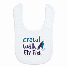 Fly Fishing Baby Bib - Crawl Walk Fly Fish