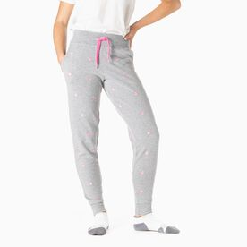 Soccer Embroidered Jogger - Soccer ball Gray/Pink