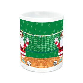 Volleyball Coffee Mug Santa