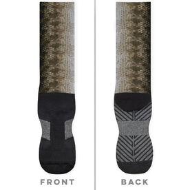 Fly Fishing Printed Mid-Calf Socks - Largemouth Bass