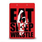 Wrestling Custom Clipboard Eat Sleep Wrestle