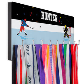 Hockey Hooked on Medals Hanger - Go For The Goal