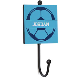 Soccer Medal Hook - Soccer Ball With Name