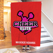 Cheerleading Premium Blanket - Custom Team Logo