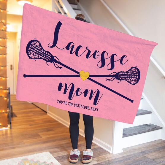 Girls Lacrosse Premium Blanket - Lacrosse Mom