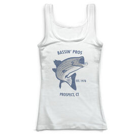 Fly Fishing Vintage Fitted Tank Top - Personalized Striper