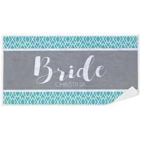 Personalized Premium Beach Towel - The Stylish Bride