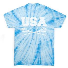 Guys Lacrosse Short Sleeve T-Shirt - USA Lacrosse Tie Dye