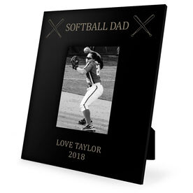 Softball Engraved Picture Frame - Softball Dad