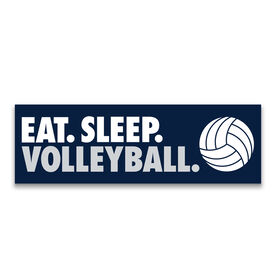 "Volleyball 12.5"" X 4"" Removable Wall Tile - Eat Sleep Volleyball"
