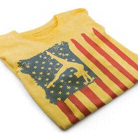 Vintage Gymnastics T-Shirt - American Flag