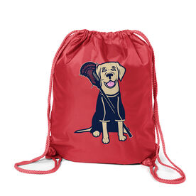 Guys Lacrosse Sport Pack Cinch Sack - Riley The Lacrosse Dog