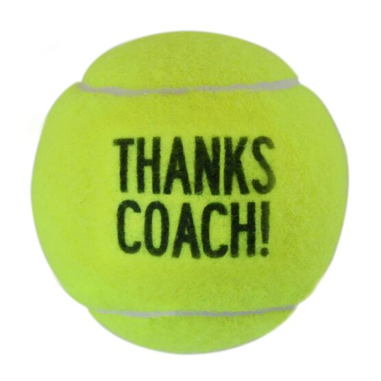 Personalized Thanks Coach Tennis Ball