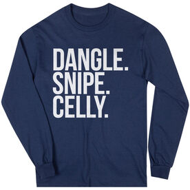 Hockey Long Sleeve Tee - Dangle Snipe Celly Words