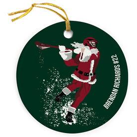 Guys Lacrosse Porcelain Ornament Santa Laxer