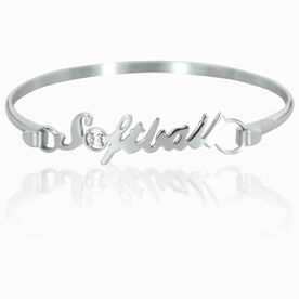 Softball Stainless Steel Bracelet