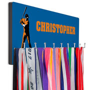 Baseball Hooked on Medals Hanger - Personalized Player Batter