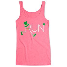 Running Women's Athletic Tank Top - Let's Run Lucky