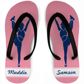 Cheerleading Flip Flops Personalized Girl